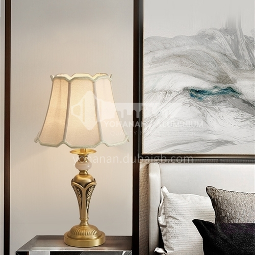 European style simple bedroom bedside lamp, copper warm and fashionable decoration, retro high-end table lamp-MXDS-E9976