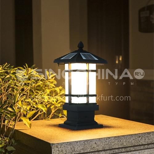 Solar column head lamp, outdoor waterproof lawn lamp, modern garden forest villa outdoor lawn landscape courtyard street lamp MTZD-025