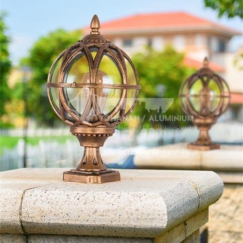 Landscape stigma lamp round electric gate outdoor villa courtyard lamp waterproof fence wall ball lamp garden MTZD-026