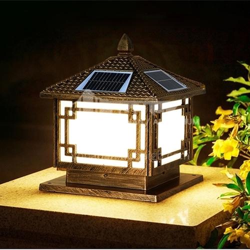 Solar fence lights, household pillar lights, outdoor waterproof villa garden pillar lights, villa gate garden lights MTZD-S023