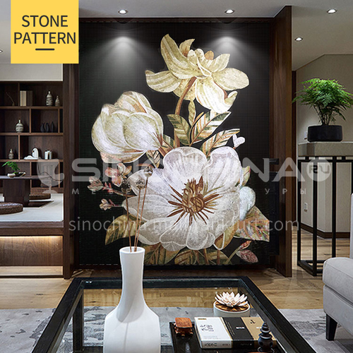 Natural marble art simple modern style mosaic M-1