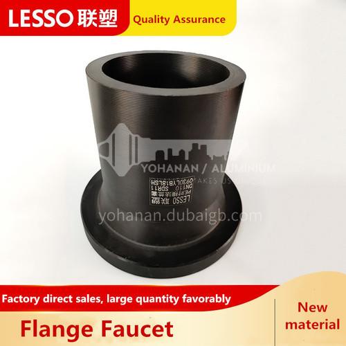 Butt flange sleeve (PE fitting), pressure 1.0MPa, black