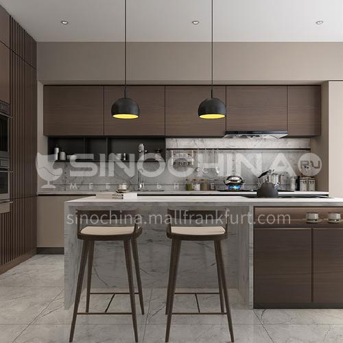 Modern kitchen Melamine with particle board open kitchen-GK-027