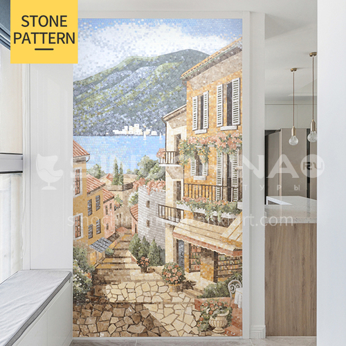 Natural marble European minimalist style rural landscape mosaic M-4