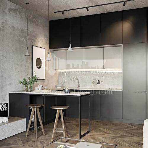 Modern kitchen Melamine with particle board open kitchen-GK-034