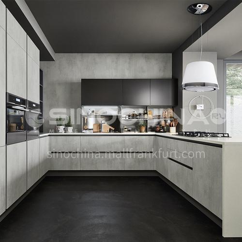 Modern kitchen Melamine with particle board open kitchen-GK-035