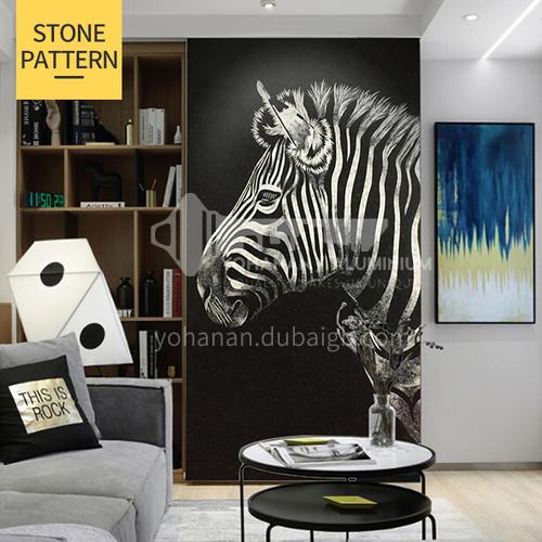 Natural marble modern minimalist style zebra mural mosaic M-7