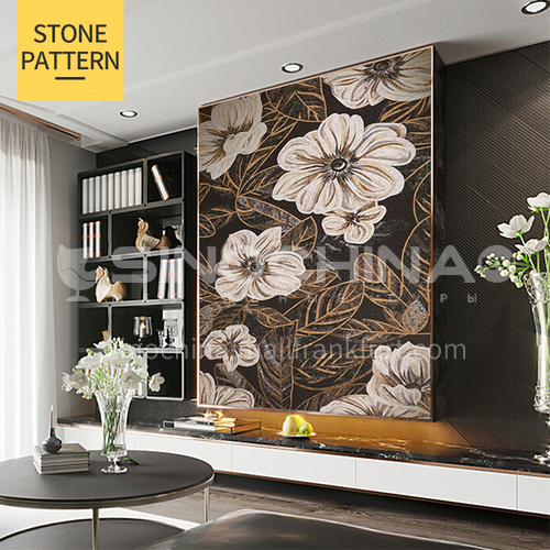 Natural marble classical style art deco mosaic mural M-9