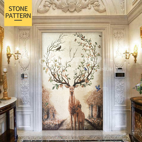 Natural marble modern Nordic style mosaic M-11