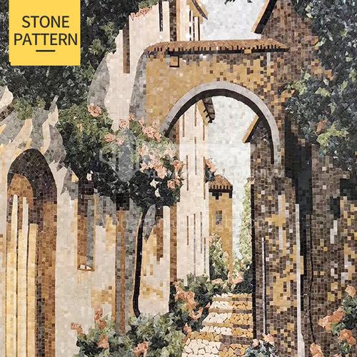 Natural marble European classical style mosaic M-13