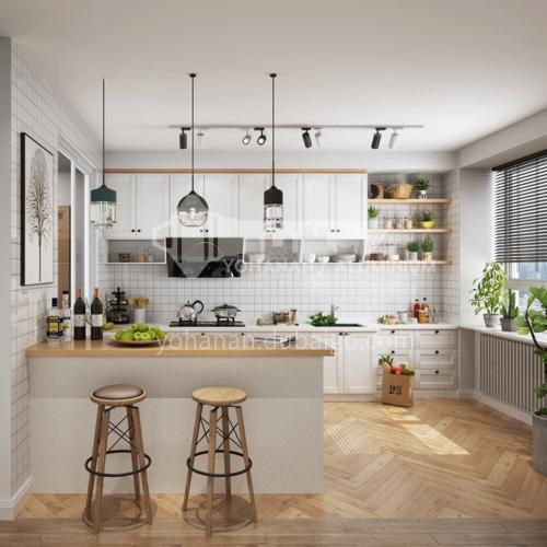 Modern kitchen PVC with HDF open kitchen-GK-101