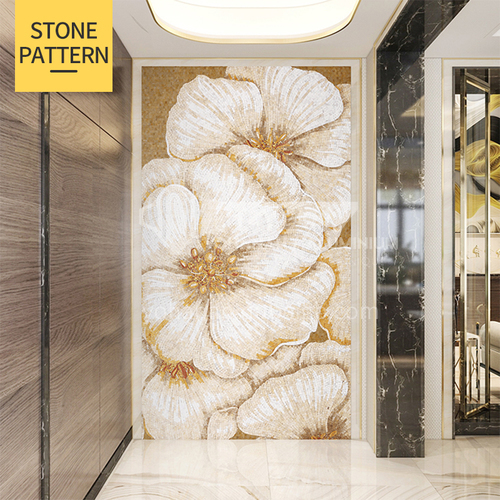 Natural marble light luxury style mosaic M-18