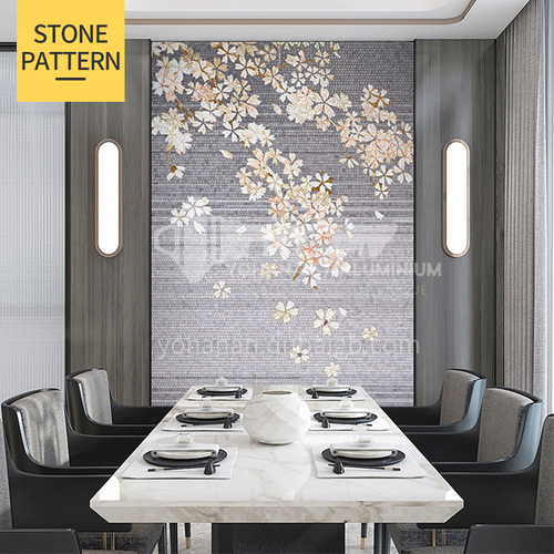 Natural marble modern light luxury style mosaic M-21