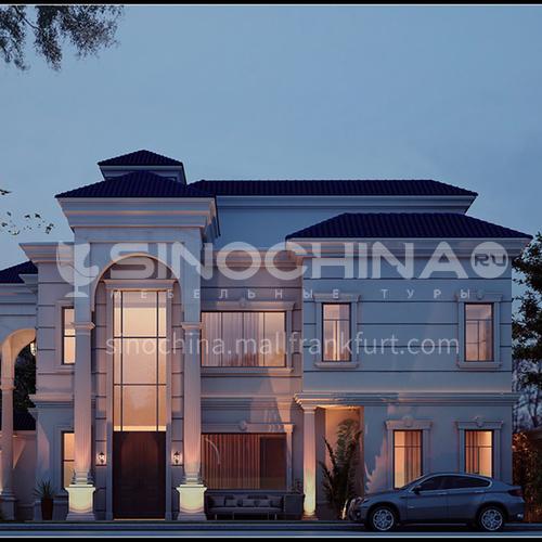 Exterior design - Neo-classical villa in Saudi Arabia     ECS1028