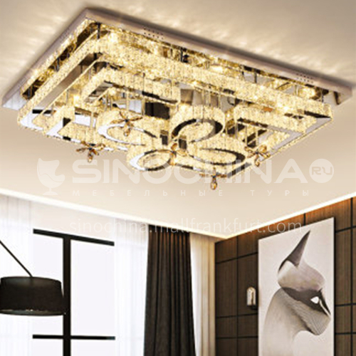 Crystal lamp rectangular modern led ceiling lamp LG-X197