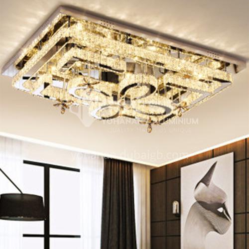 Crystal lamp rectangular modern led ceiling lamp LG-X197