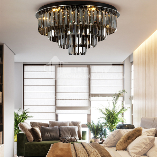 LED ceiling lamp bedroom round lamp bedroom lamp romantic crystal lamp GD-1302