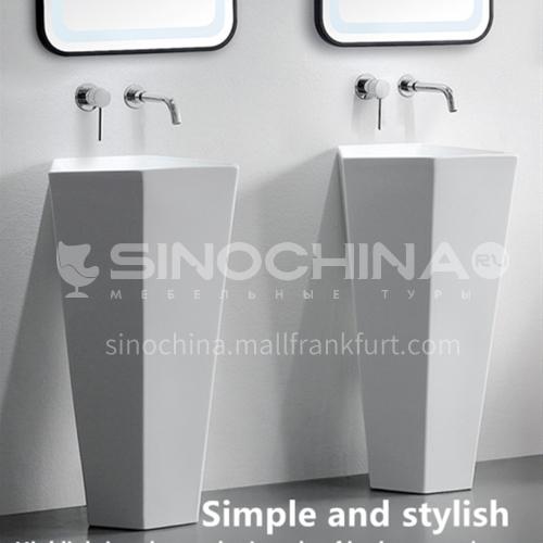 free stand ceramic pedestal wash basin