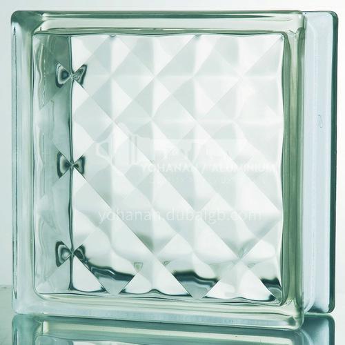 Gem pattern glass brick