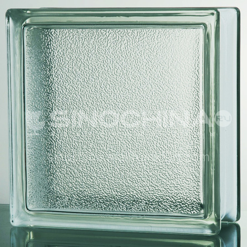 Large orange peel glass brick