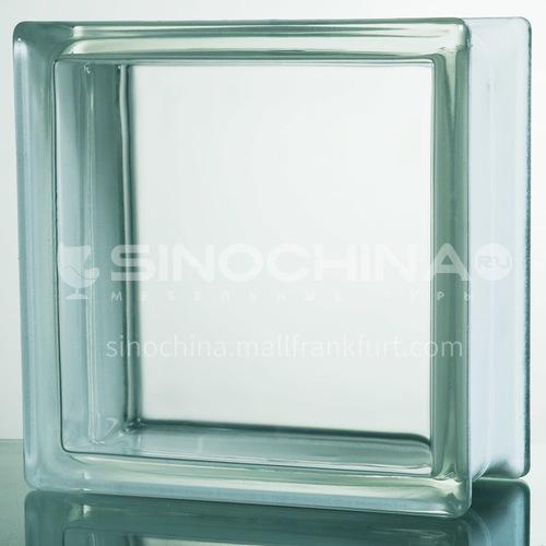 Transparent glass brick