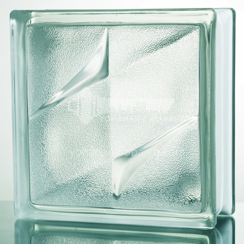 Frosted double star glass brick