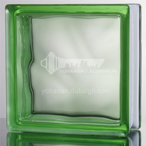 Green Cloudy Glass Brick