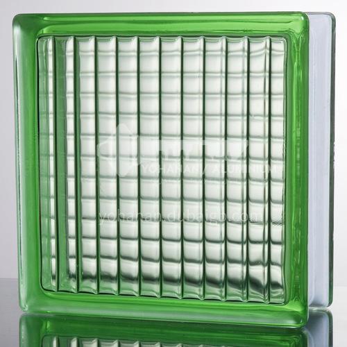 Green parallel glass brick