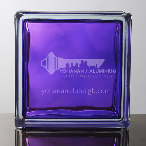 Purple inner stained glass brick