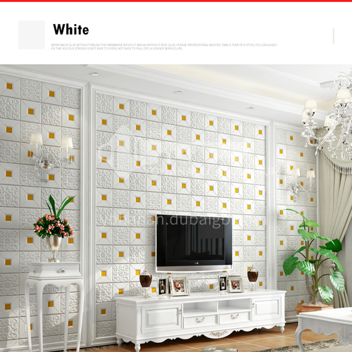 Waterproof and mildew proof modern 3D Self-Adhesive wall panel 5801
