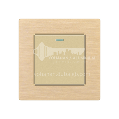 Home hotel golden aluminum wire drawing 86 type wall engineering concealed switch socket-XM-F71-10-golden aluminum wire drawing