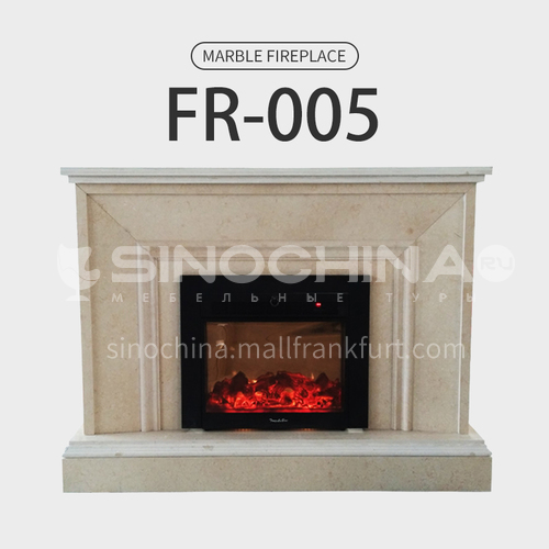 Natural stone European minimalist style fireplace FR-005