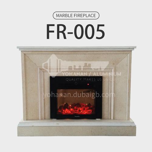 Natural stone European minimalist style fireplace FR-005