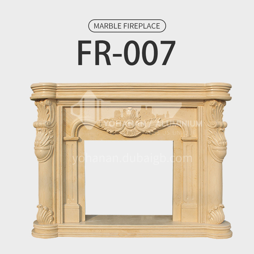 Natural stone European style fireplace FR-007