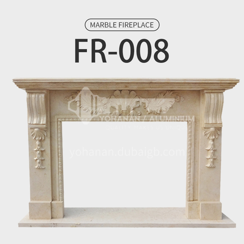 Natural stone European style fireplace FR-008