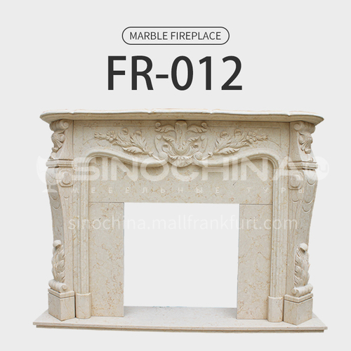 Natural stone European style fireplace FR-012