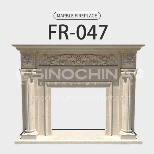 Natural stone European classical style fireplace FR-047