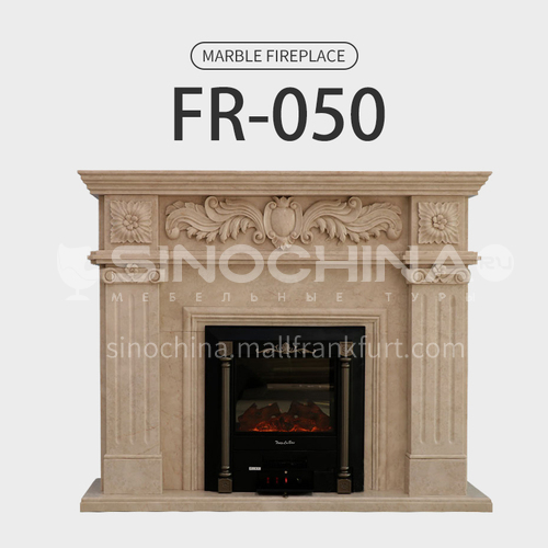 Natural stone European classical style fireplace FR-050