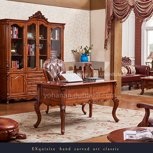 GH-1021- Solid wood desk log high-end classic style