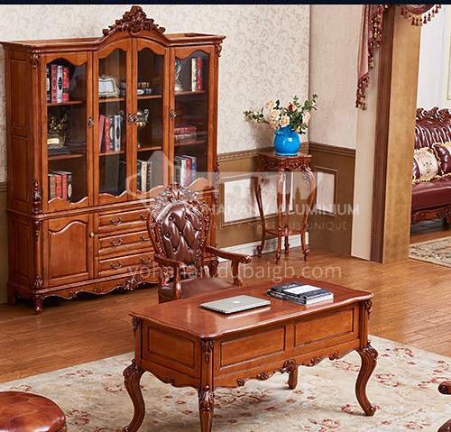 GH-1234- bookcase solid wood study room bookcase classical style
