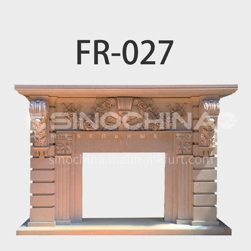 Natural stone European classical style fireplace FR-027