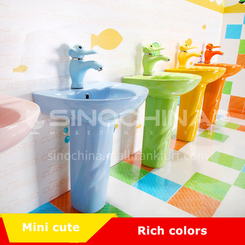 ceramic pedestal basin blue pink green yellow orange ceramic basin