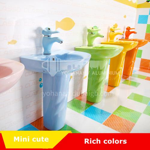 ceramic pedestal basin blue pink green yellow orange ceramic basin