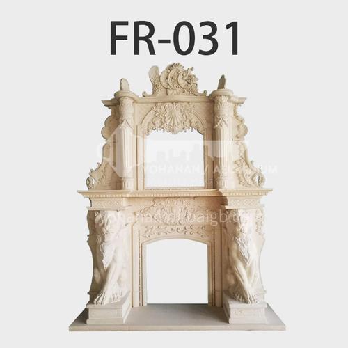 Natural stone European luxury style fireplace FR-031