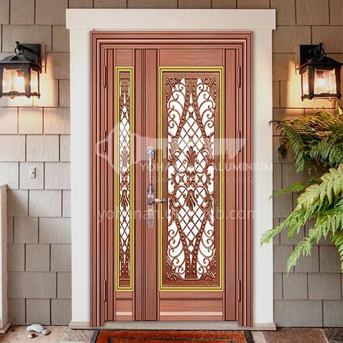 304 stainless steel door red bronze brushed bread door son-mother door