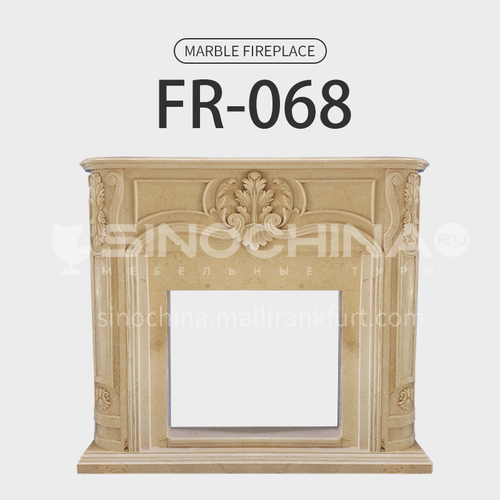 Natural stone European fireplace FR-068