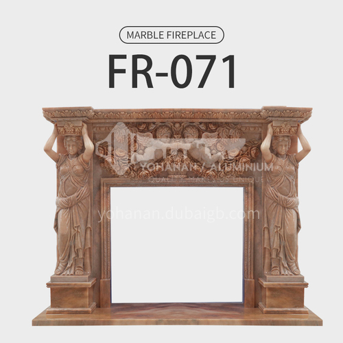Natural stone European classical style fireplace FR-071