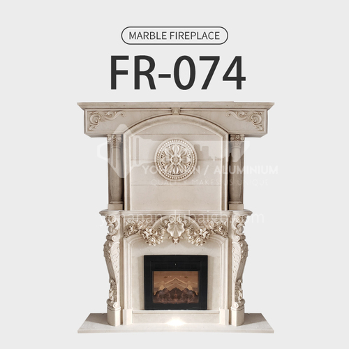 Natural stone European classical style fireplace FR-074