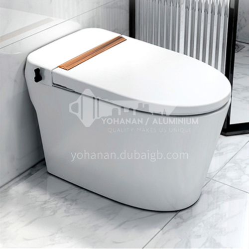 tankless pulsed flush toilet  with touch flush and foot kick flush