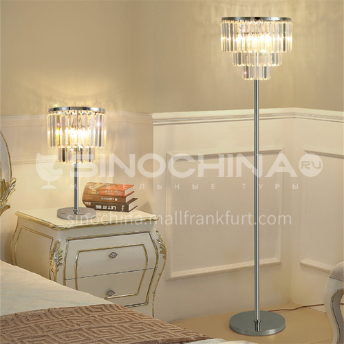 Simple and light luxury led crystal table lamp bedroom table lamp study bedside lamp luxury table lamp lighting-GD-213